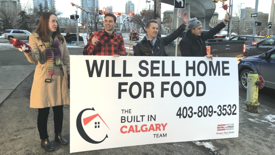 Four Calgary Realtors are donating 25 per cent of their commissions throughout the month of December to the Calgary Food Bank. The campaign kicked off this week on Giving Tuesday.