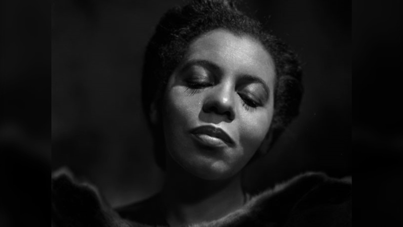 Canadian operatic singer Portia White poses for a portrait in Ottawa in a January 15, 1946, archival image. (THE CANADIAN PRESS/HO-Library and Archives Canada, Yousuf Karsh, PA-192783)