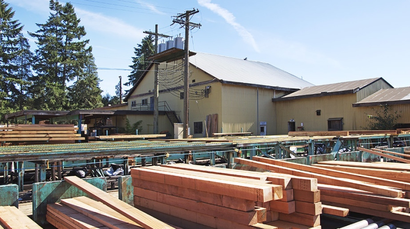 A sawmill in British Columbia is seen in this file photo.