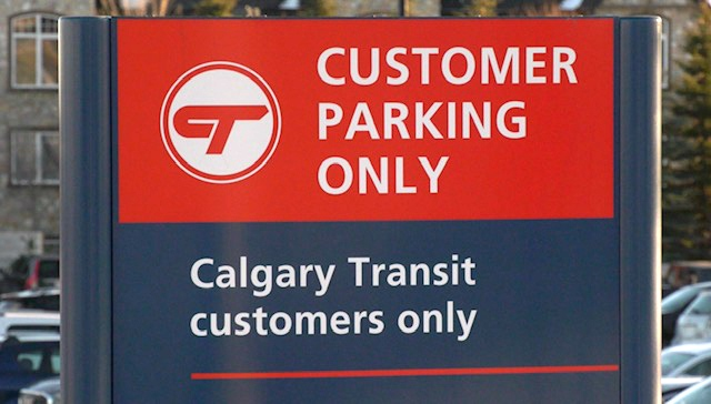 Calgary Transit park and ride