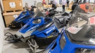 Snowmobiles are shown for sale at a GCSurplus warehouse in Montreal, Tuesday, December 3, 2019. THE CANADIAN PRESS/Graham Hughes
