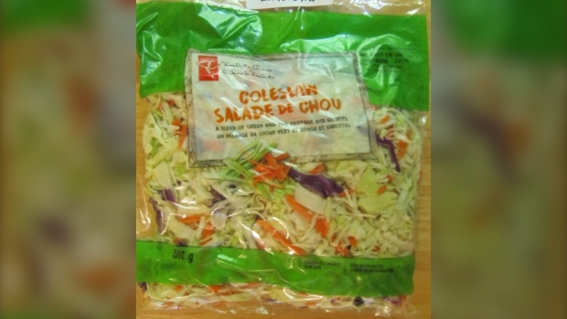 President's Choice coleslaw is seen in this image. (CFIA)