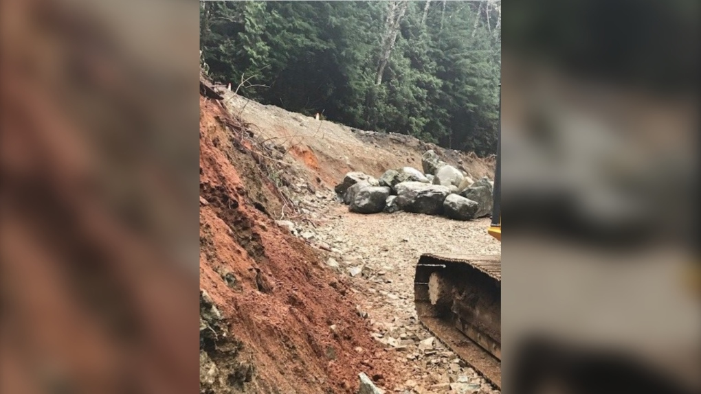 Washout on Highway 4