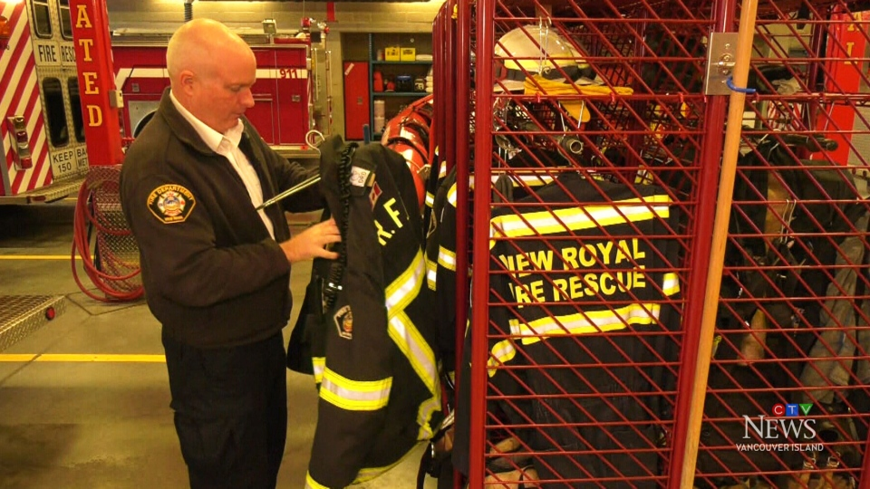 Island fire chief celebrates 35 years of service