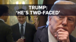 Trump calls Trudeau 'two-faced' after viral video