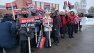 The Ontario Secondary School Teachers Federation announced Friday that its union of high school teachers and support staff are going on a one-day strike. (OSSTF District 24/ Twitter)