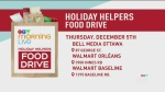 Holiday helper food drive