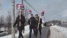 High school teachers go on strike
