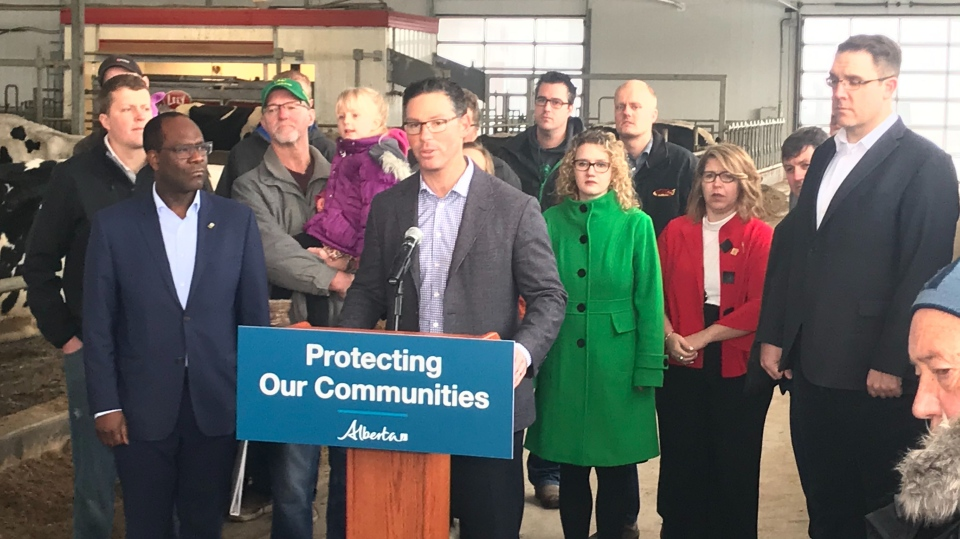 Alberta Justice Minister Doug Schweitzer announced a new policing model funded by all three levels of government at an event Wednesday, Dec. 4, 2019. (CTV News Edmonton)