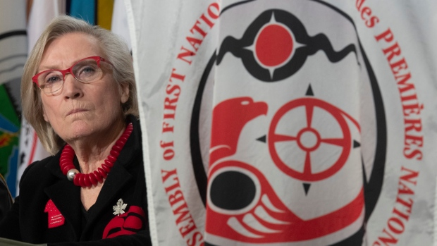 Crown-Indigenous Relations Minister Carolyn Bennett listens to chiefs comment during a session at the AFN Special Chiefs Assembly in Ottawa, Wednesday December 4, 2019. THE CANADIAN PRESS/Adrian Wyld