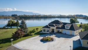 A unique property listing for sale in Abbotsford would give the future owner access to their own private lake.