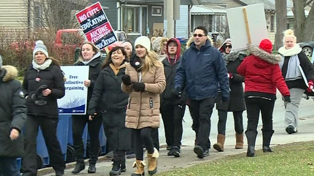 Windsor teachers go on one-day strike