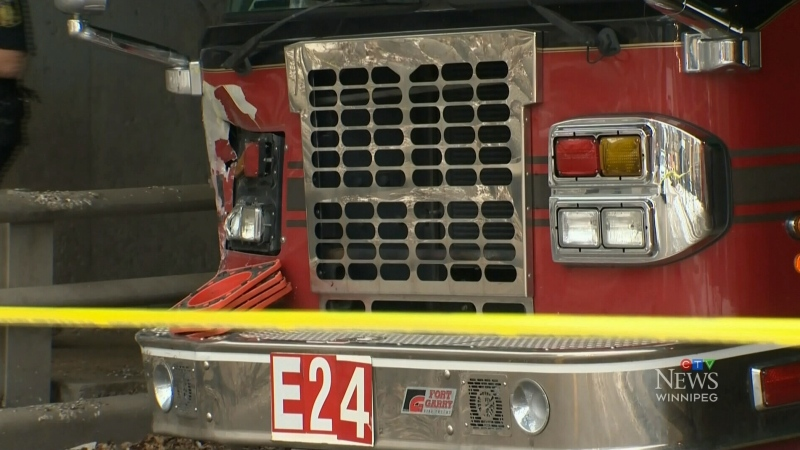 After a fire truck was stolen and taken on a destructive joy ride, Winnipeg's fire chief is exploring options to stop future thefts. (CTV News Winnipeg)