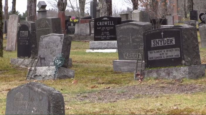 Police are asking anyone in the area to check their loved one's gravestone in Bridgewater's Brookside Cemetery. If you notice anything has been stolen or damaged, you should contact police.