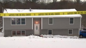 The shooting occurred at the mother's home in Connecticut.