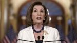 Speaker of the House Nancy Pelosi makes a statement at the Capitol in Washington, on Dec. 5, 2019. (J. Scott Applewhite / AP)