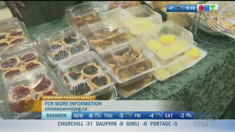Baked goods at Downtown Winnipeg Farmers' Market