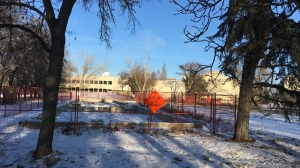 Site of Brandt building in Wascana Park (Wayne Mantyka / CTV News Regina)