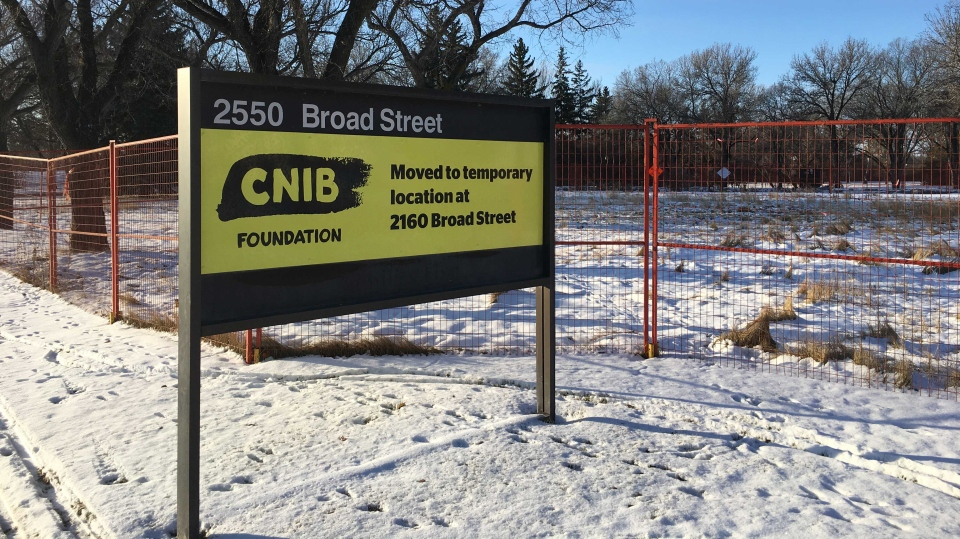 The future site of Brandt and CNIB in Wascana Park (Wayne Mantyka / CTV News Regina)