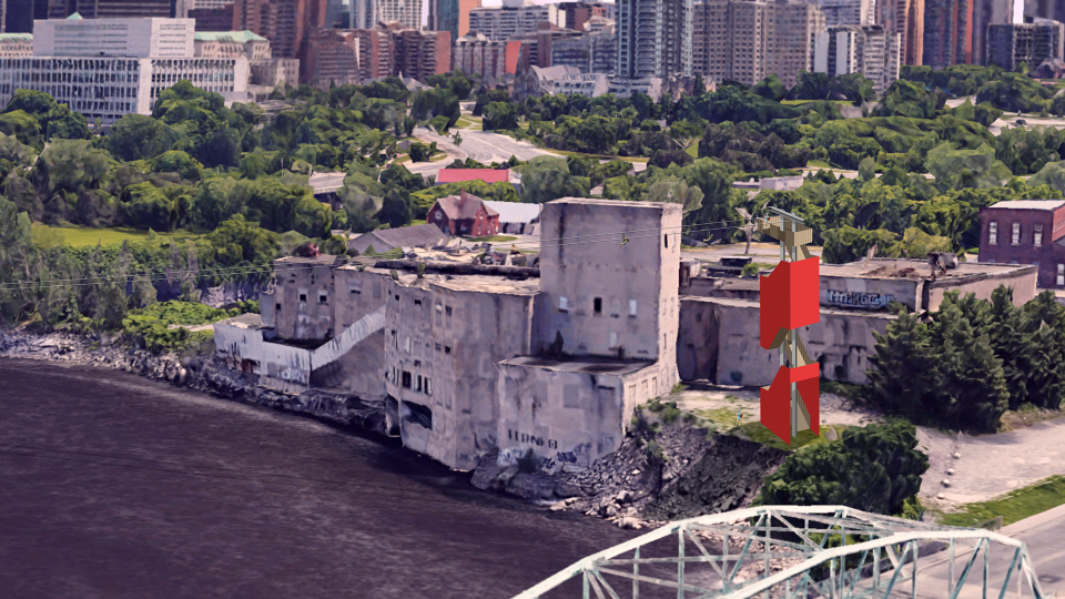 A zip line connecting Ottawa and Gatineau is coming summer 2020. (InterZip)