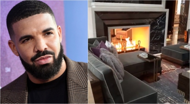 Drake showed off his new mansion on Instagram. (Twitter/@Champagnepapi)