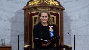 Governor General Julie Payette delivers the Throne Speech in the Senate chamber, Thursday December 5, 2019 in Ottawa. THE CANADIAN PRESS/Sean Kilpatrick
