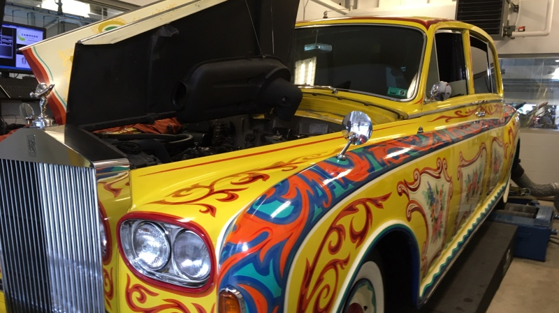 John Lennon's Rolls-Royce limousine at Camosun College on Dec. 5, 2019. (CTV Vancouver Island)