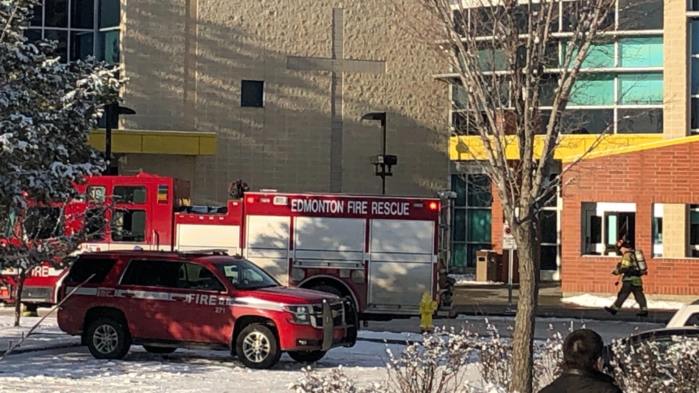 Fire at Edmonton high school; no injuries reported