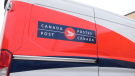 A Canada Post van is pictured in Saskatoon on Dec. 5, 2019. (Chad Leroux/CTV Saskatoon)