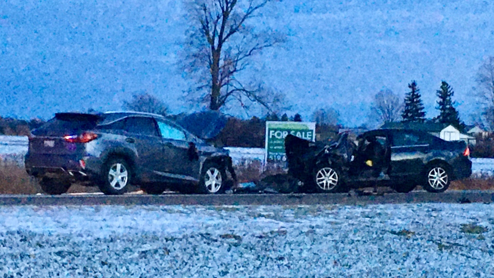 Two-vehicle crash on Colonel Talbot