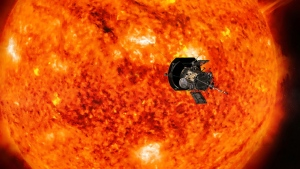 Scientists hail the first data sent back by the Parker Solar Probe, giving them new leads on the solar wind and heating of the corona. (Illustration courtesy of NASA / Johns Hopkins APL)