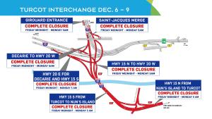 Turcot closures, weekend of Dec. 6.