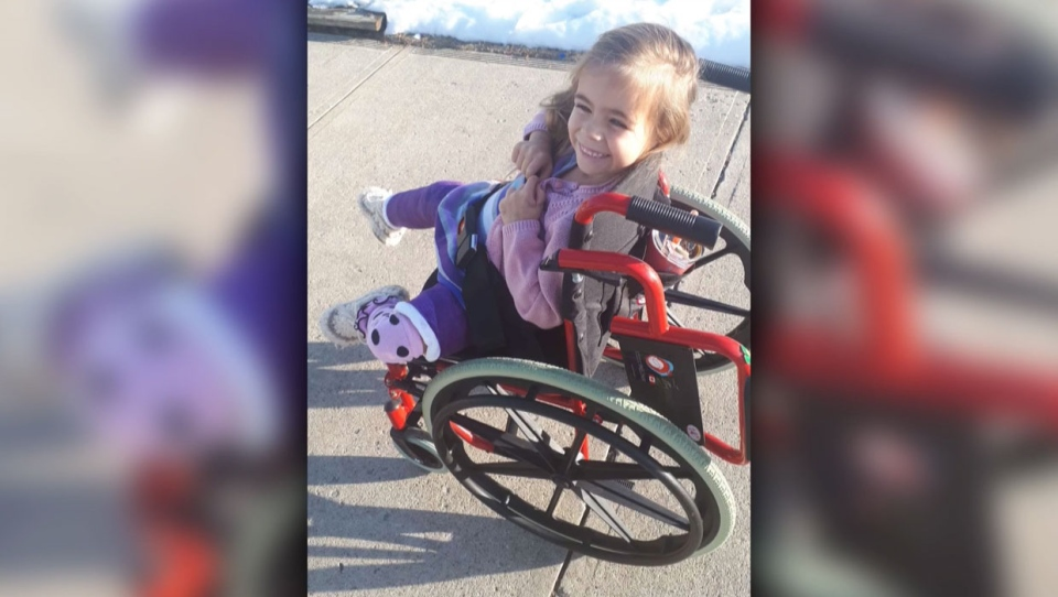 A Bowden family had their truck with their daughter's wheelchair, their passports and their son's hockey equipment stolen out of their driveway. (Supplied)