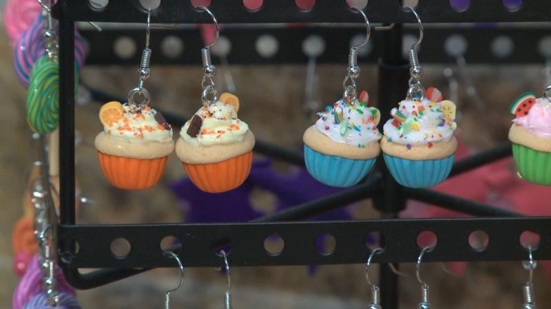 Regina artist making small sweets into earrings