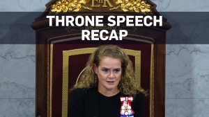 Gov. Gen. Payette delivers throne speech for 43rd