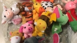 Nearly 200 toy finger puppets were seized by U.S. border patrol officers, who determined the shipment from Canada contained lead. (U.S. Customs and Border Protection)