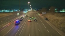 OPP say one person was struck and killed on the QEW near Dorval Drive in Oakville.