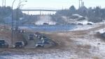 Edmonton, roads, Henday, winter