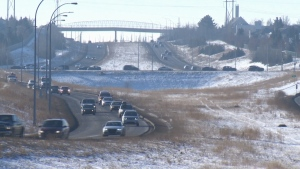 Edmonton, roads, Henday, winter