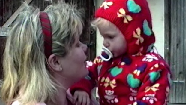 The video for 'Christmas Tree Farm' shows a compilation of Taylor Swift's seasonal family home movies. (source:Taylor Swift via Youtube)