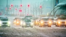 Driver across the GTA are facing a messy commute as the latest blast of winter hits the city. (Craig Berry / CTV News Toronto)