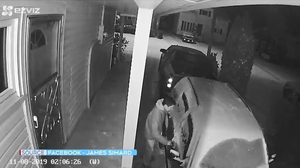 Surveillance camera catches alleged thief