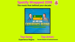 """Jay and Dan called """"Experience Regina"""" their decade defining song in the style of a recent Spotify campaign. (Courtesy: Jay and Dan/Twitter)"""