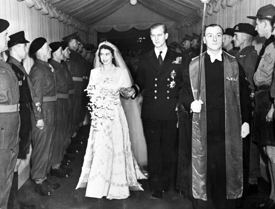 Prince Philip and princess elizabeth
