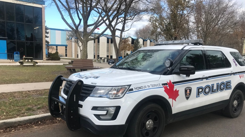 Officers responded to Vincent Massey Secondary School at 1800 Liberty St. in Windsor, on Friday, Dec. 6, 2019. (Rich Garton / CTV Windsor)