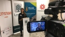 Mischa Schlemmer with CityStudio London speaks about the new project in London, Ont. on Friday, Dec. 6, 2019. (Celine Zadorsky / CTV London)
