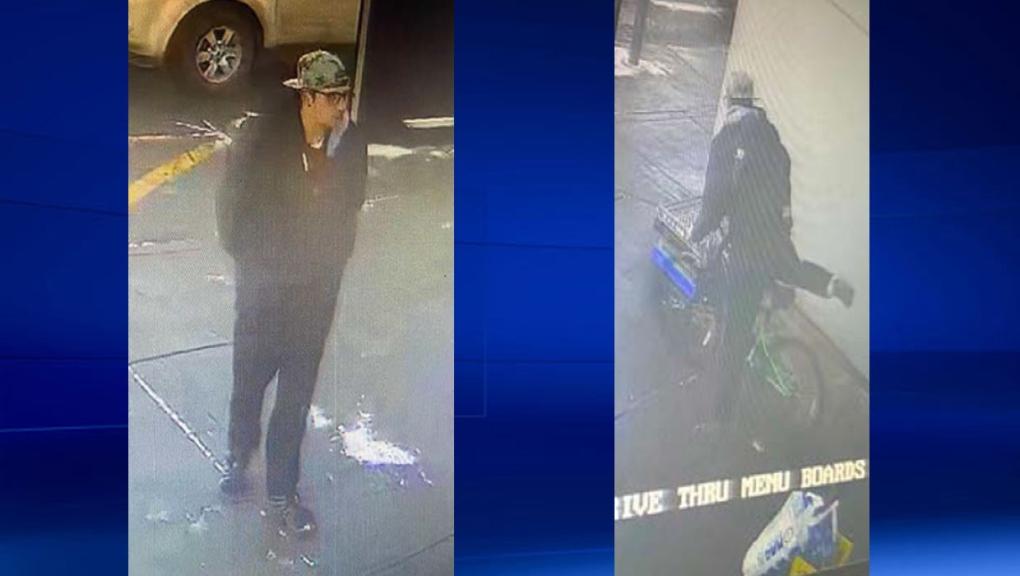 calgary, airdrie, mcdonald's, bike theft, suspect