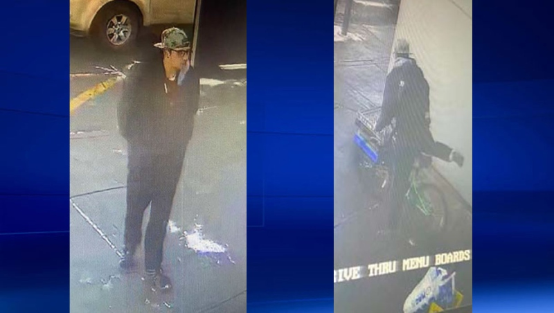 Airdrie RCMP are looking to speak with this individual in connection with the theft of a bike from a McDonald's restaurant. (Supplied)
