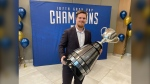 Blue Bombers fans got the chance to continue the Grey Cup celebration as they got to meet and take pictures with Adam Bighill and the Grey Cup. CTV's Jeremie Charron was at the event.