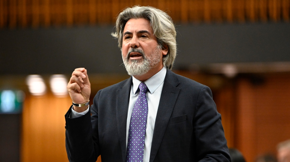 Pablo Rodriguez responds to a question during Question Period in the House of Commons Friday May 31, 2019 in Ottawa. THE CANADIAN PRESS/Adrian Wyld